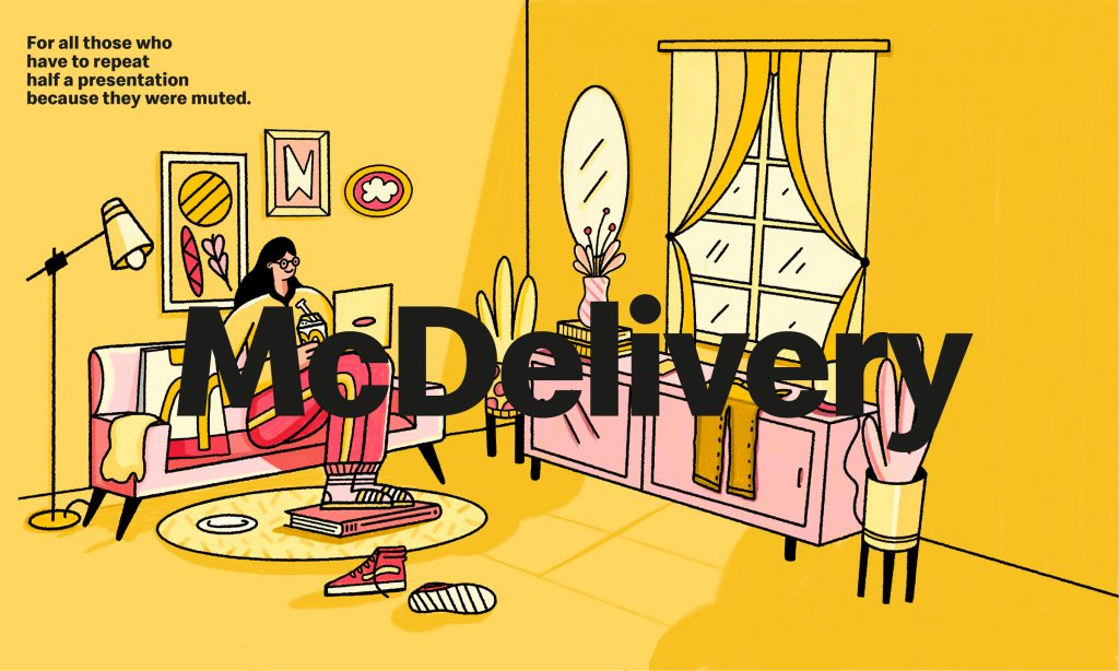 salon-femme-jaune-ordinateur-mcdelivery