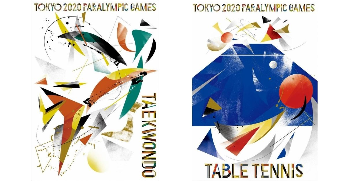 affiches-tokyo-2020-formes-couleurs-taekwondo-ping-pong