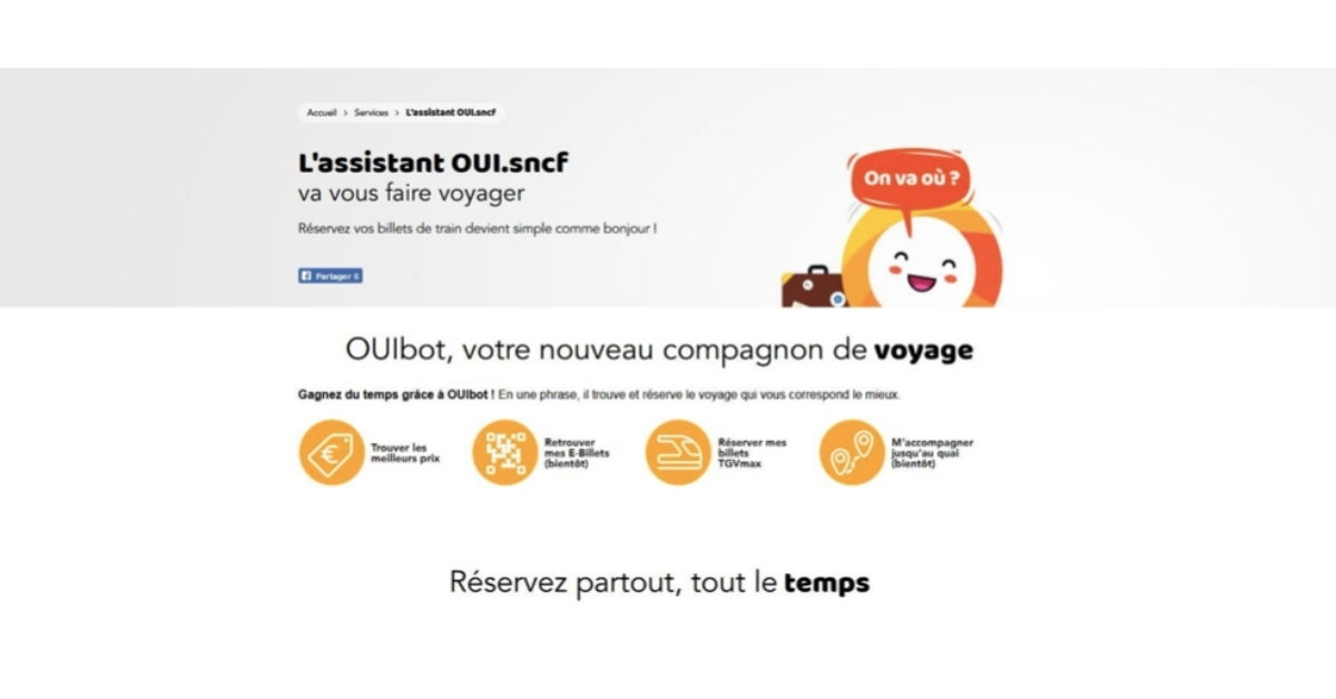 sncf - oui.scnf - train - chatbot - OUIbot