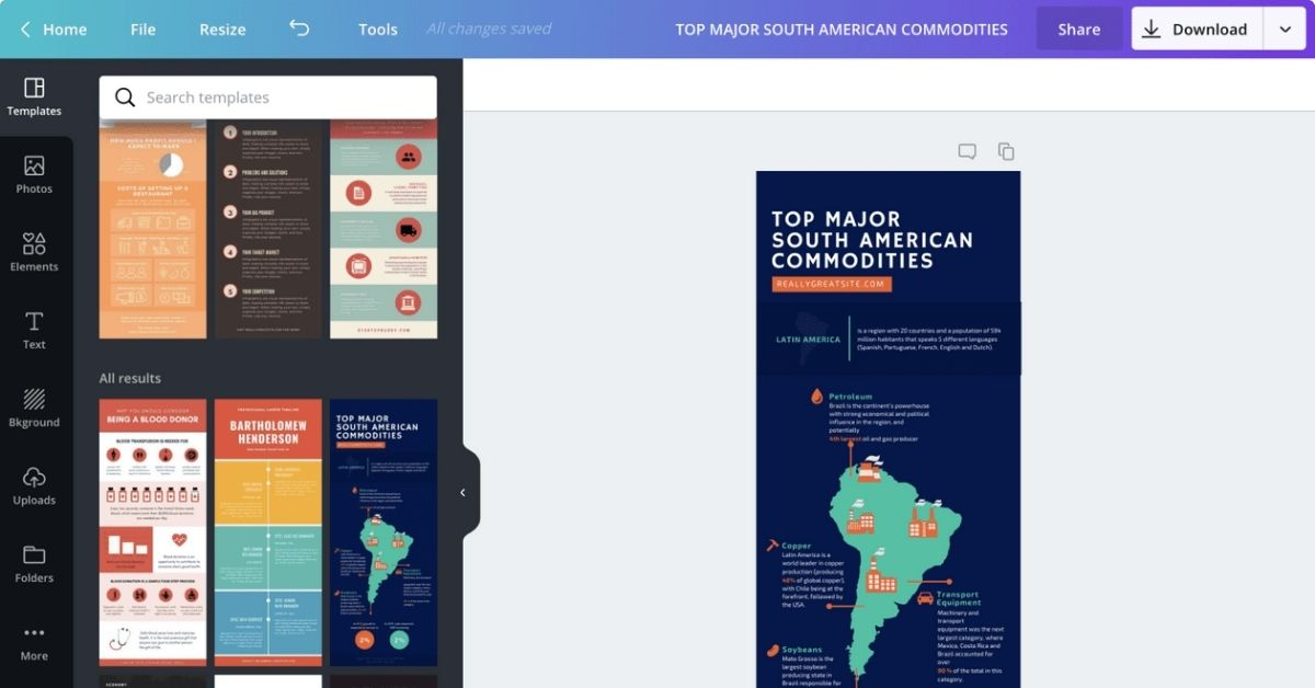 page-canva-creation-infographies-outil